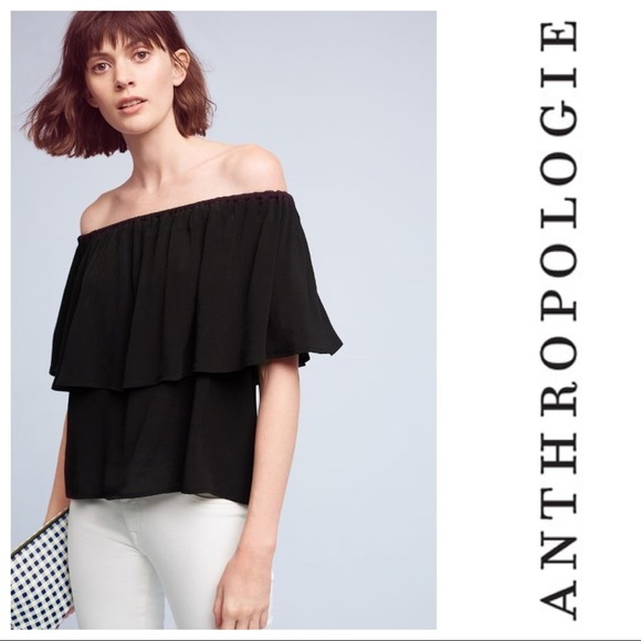2bf56c2ce97 Anthropologie Tops - Anthropologie: Holding Horses off the shoulder top